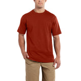 Carhartt 101124 Maddock Non-Pocket T-shirt Fired Brick Heather