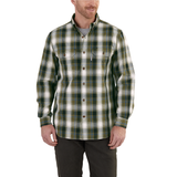 Carhartt Ford Plaid Shirt Army Green