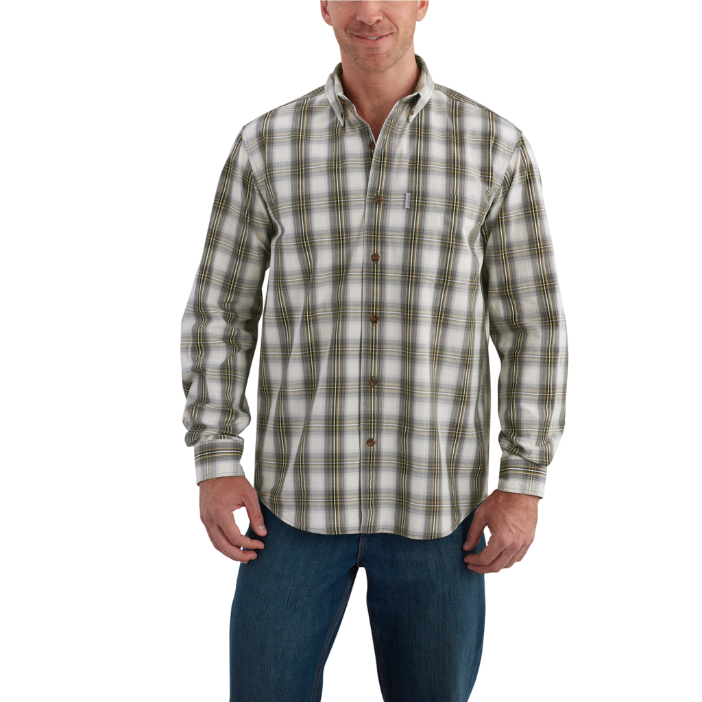 Carhartt Essential Plaid Shirt Charcoal
