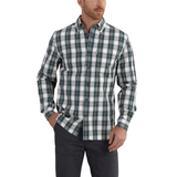 Carhartt Essential Plaid Shirt Stream Blue
