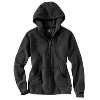Carhartt Women's Zip-Front Hoodie Black Heather