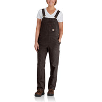 Carhartt 102438 Women's Double Front Bib Dark Brown