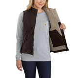 Carhartt WOMENS WASHED DUCK Sherpa lined Mock neck vest
