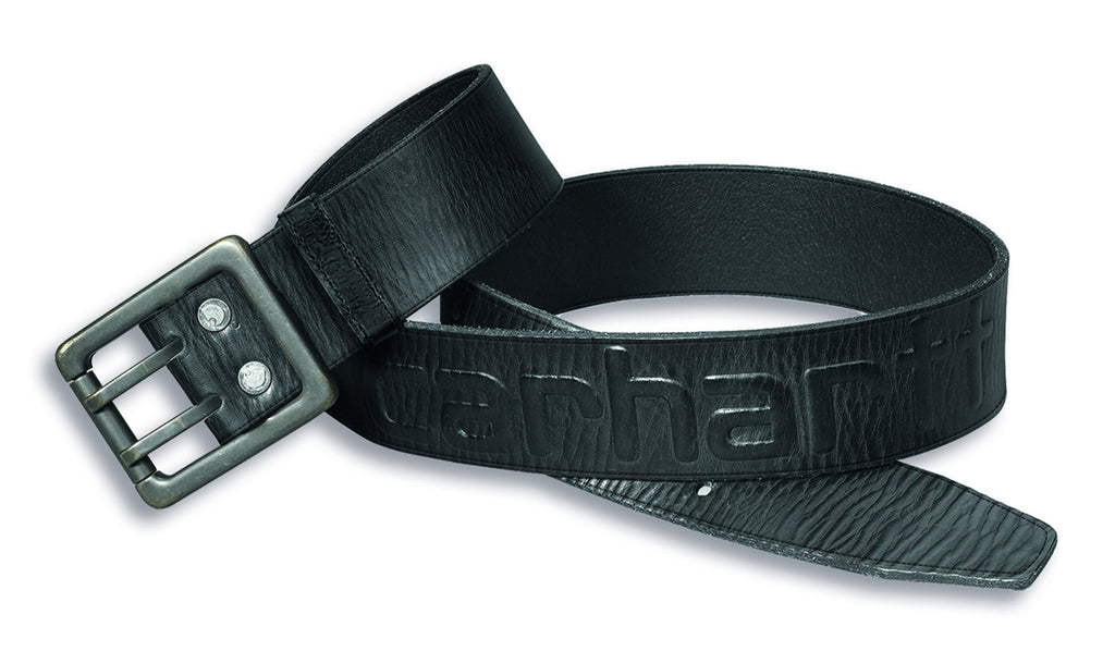 Carhartt 2217 Leather Logo Belt Black