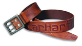 Carhartt 2217 Leather Logo Belt Brown