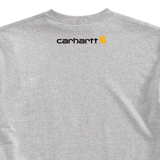 Carhartt K195 Logo T-Shirt Heather Grey Back