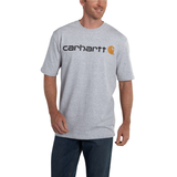 Carhartt K195 Logo T-Shirt Heather Grey