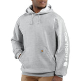 Carhartt K288 Midweight Logo Hoodie Heather Grey