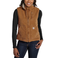 Carhartt WV001 Women's Sherpa Lined Vest Brown