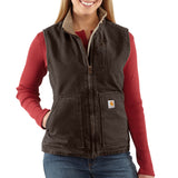 Carhartt WV001 Women's Sherpa Lined Vest Dark Brown
