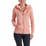 Carhartt Women's Zip Front Hoodie Peach Heather