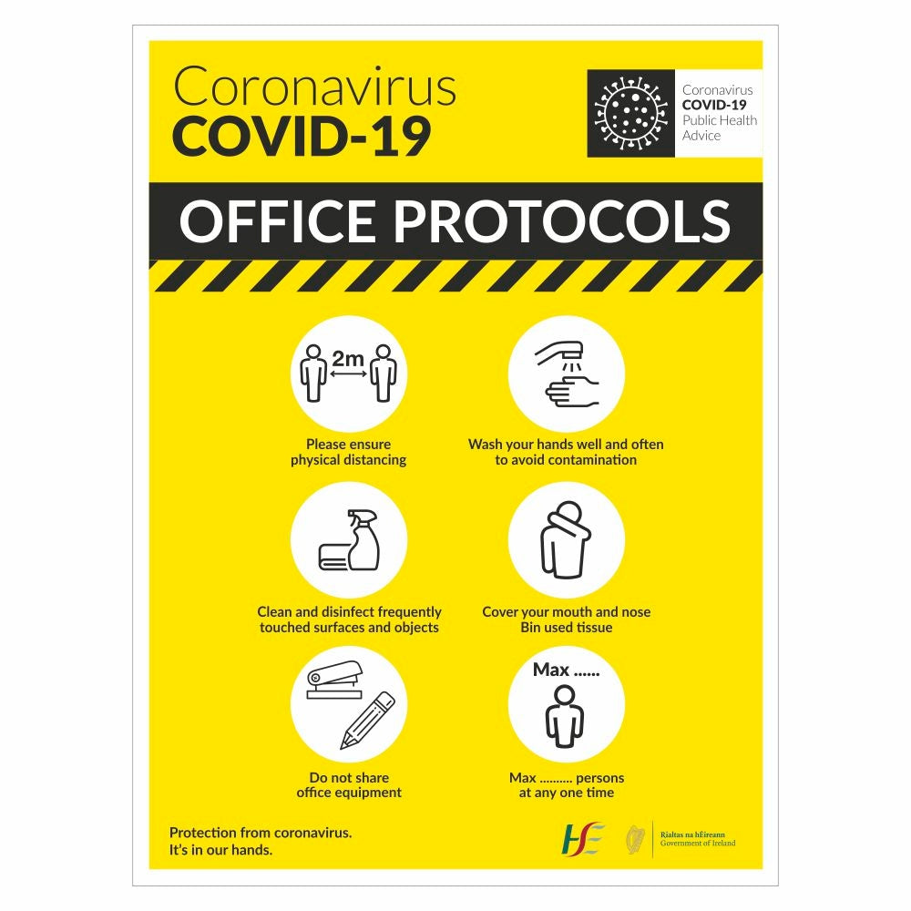 COVID-19 Office Protocols Sign | Code 055