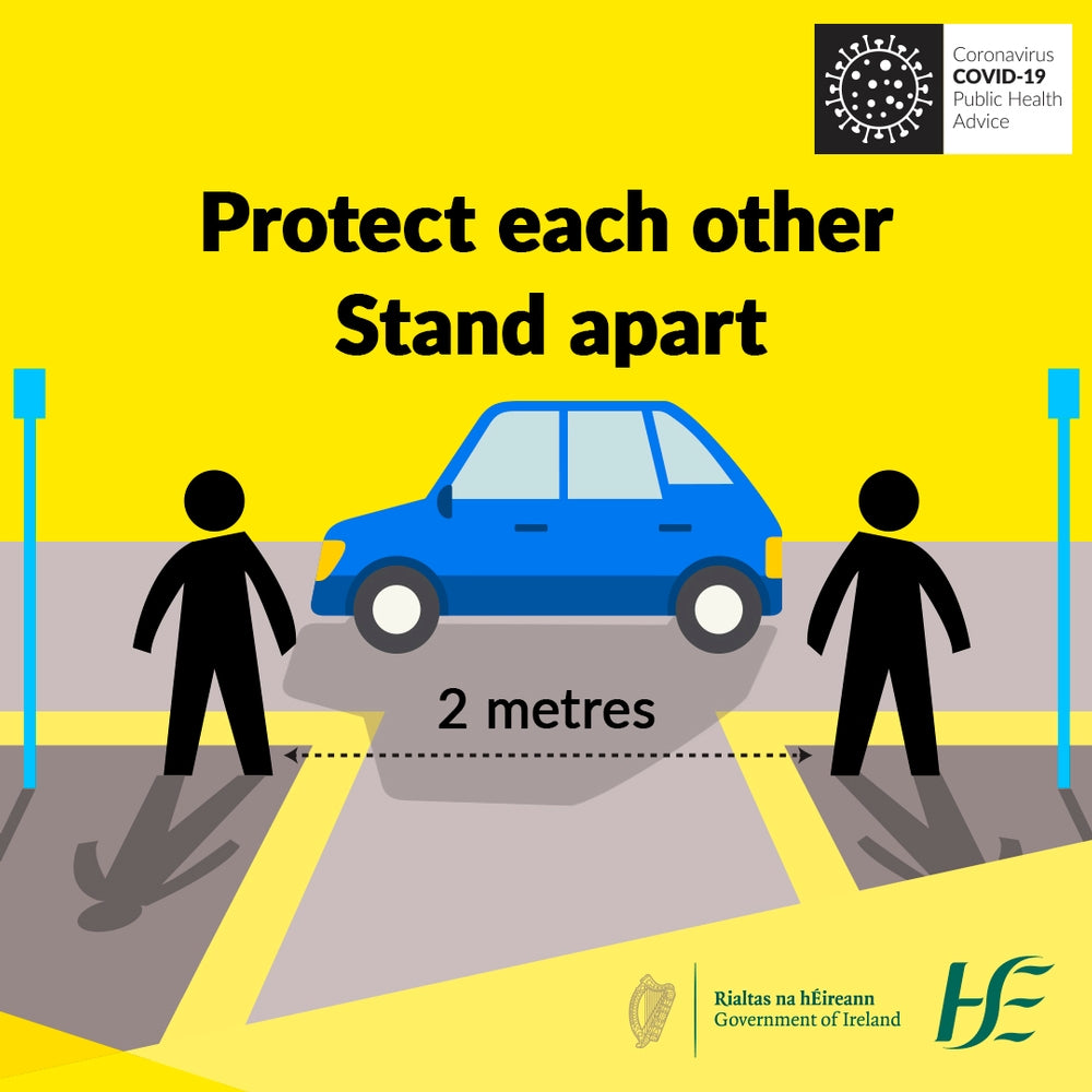 Copy of Protect Each Other Stand Apart HSE Sign | Code 027