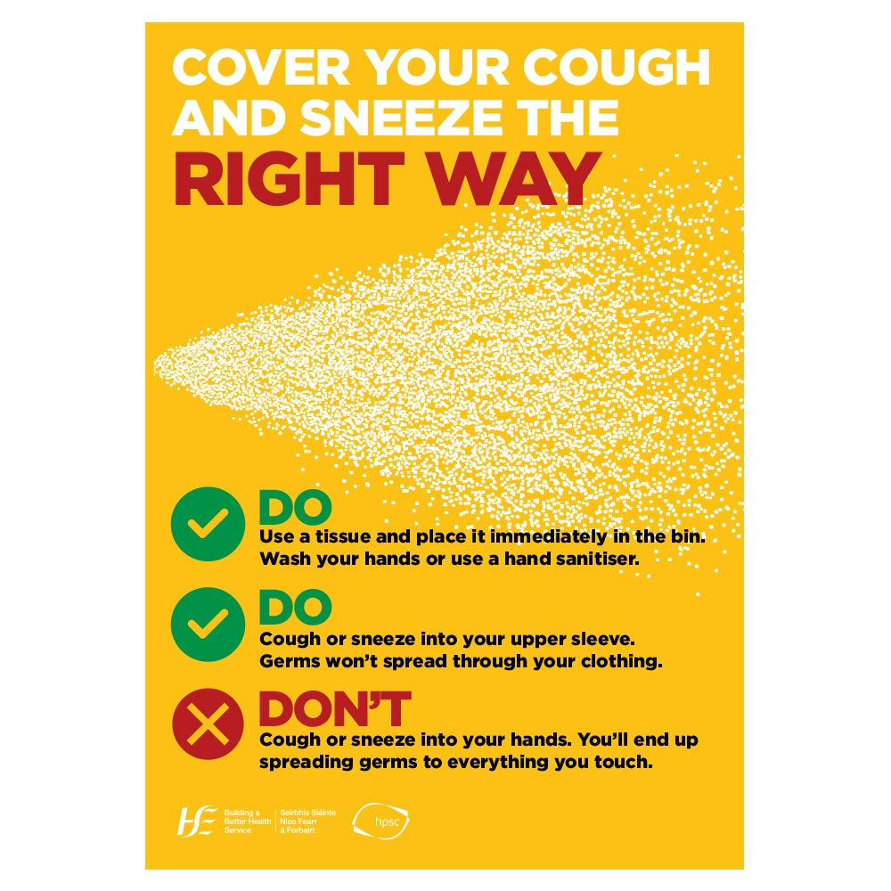 Cover Your Cough And Sneeze The Right Way Sign | Code 038
