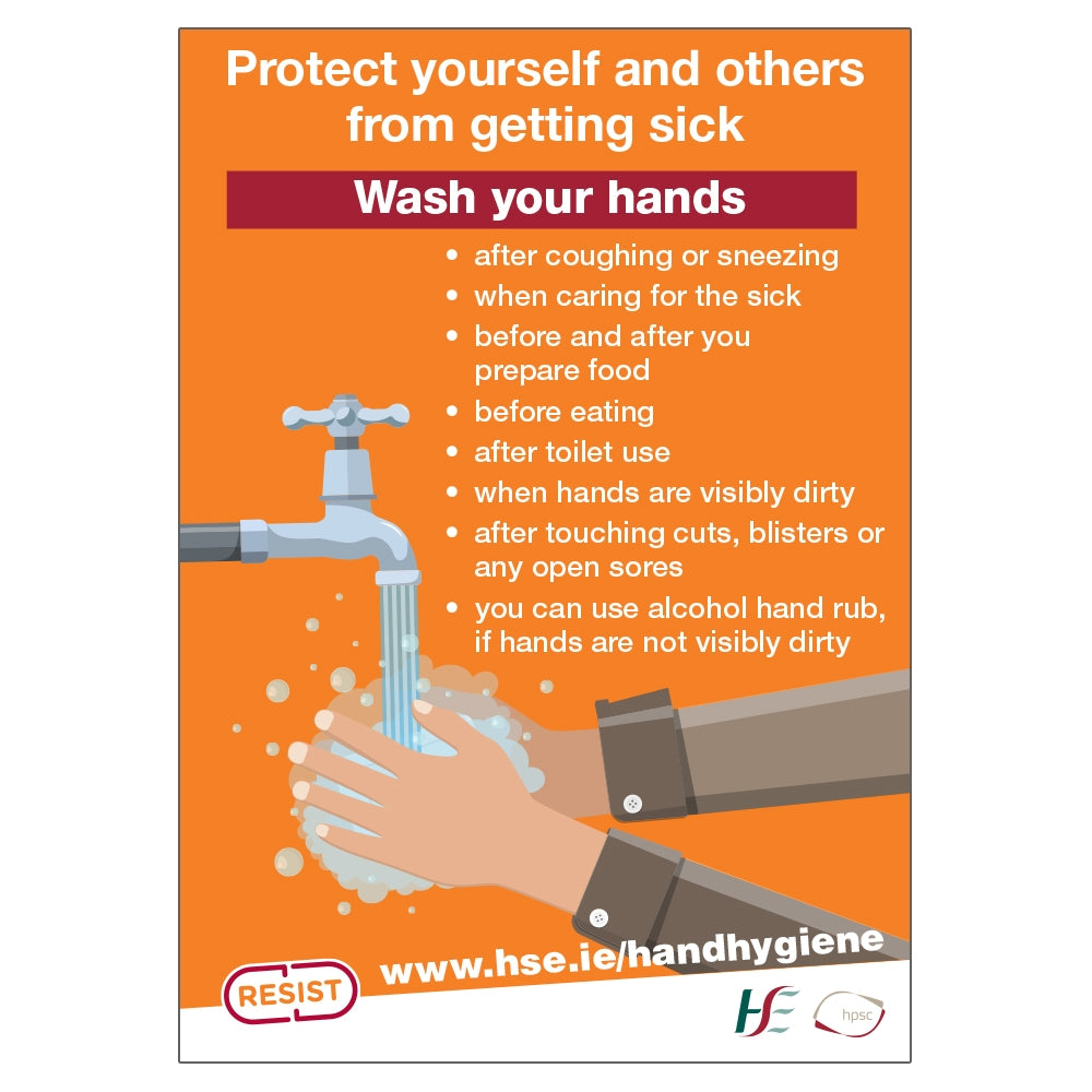 Hand Hygiene HSE Sign | Code 016