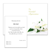 Memorial Acknowledgement/Thank You Cards with Customised Design