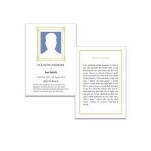 Memorial Cards with Customised Design