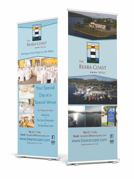Roll / Pull Up Roller Banners with carry case