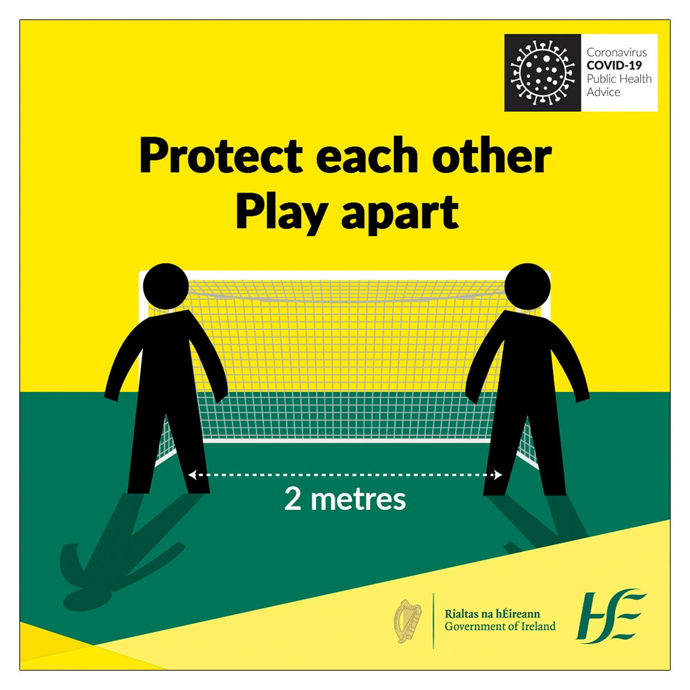 Protect Each Other Play Apart HSE Sign | Code 026