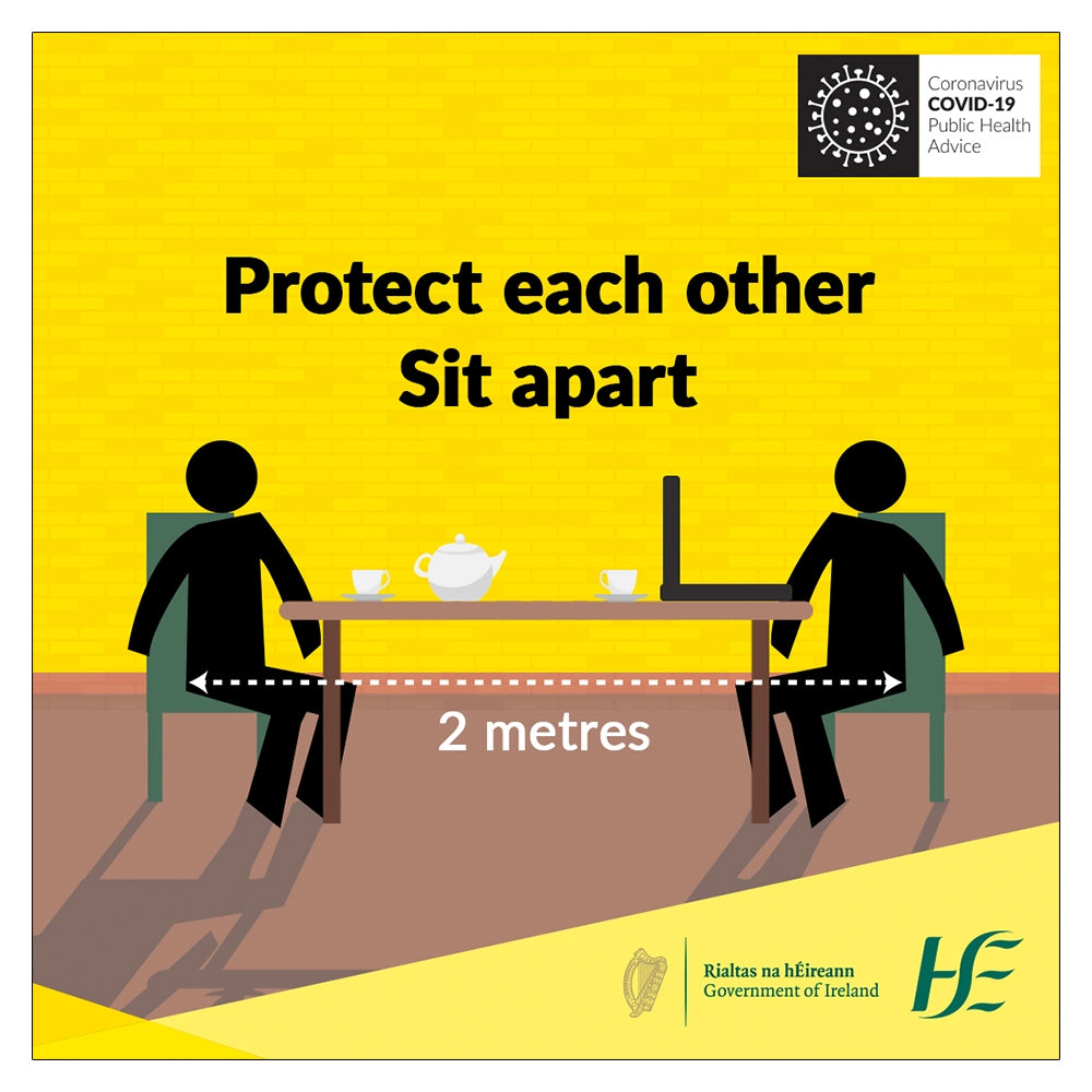 Protect Each Other Sit Apart HSE Sign | Code 022
