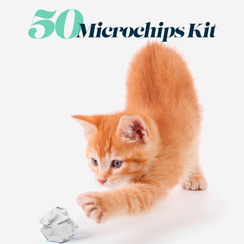 Kit of 50 ISO microchips and ID Card - aZoo.me Webstore