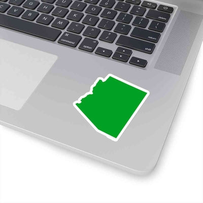 Arizona State Shape Sticker GREEN