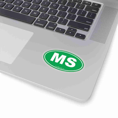 Mississippi MS Euro Oval Sticker SOLID GREEN