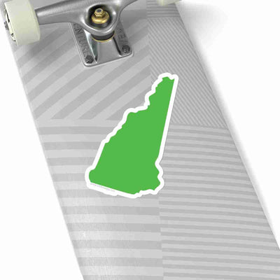 New Hampshire State Shape Sticker LIME GREEN