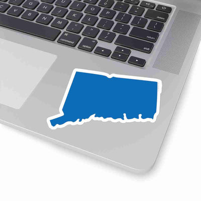 Connecticut State Shape Sticker BLUE