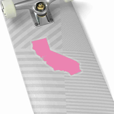 California State Shape Sticker PINK