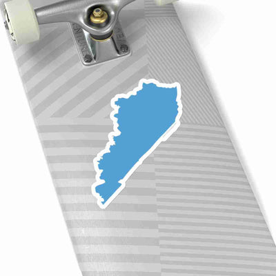 Kentucky State Shape Sticker LIGHT BLUE