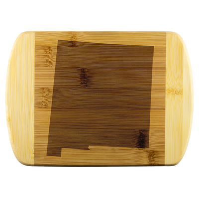 New Mexico State Shape Bamboo Cutting Board