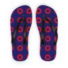 Red Circle Donut Adult Flip Flops