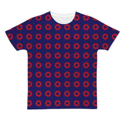 Red Circle Donut Classic Sublimation Adult T-Shirt