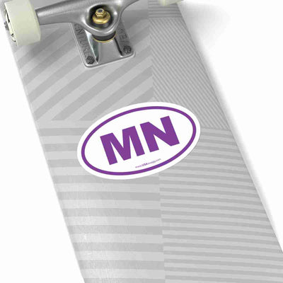 Minnesota State Shape Sticker PURPLE