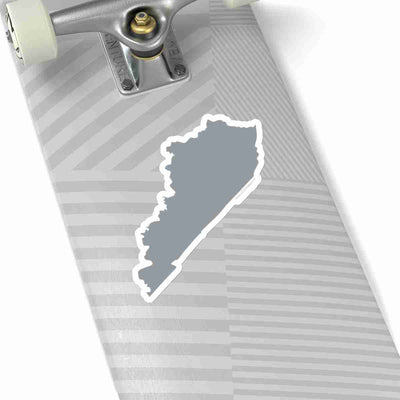 Kentucky State Shape Sticker GREY