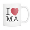 I Love Massachusetts Mug