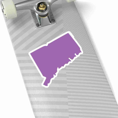 Connecticut State Shape Sticker PURPLE