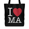 I Love Massachusetts Tote Bag