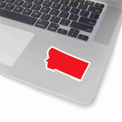 Montana State Shape Sticker RED