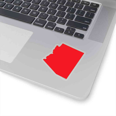 Arizona State Shape Sticker RED