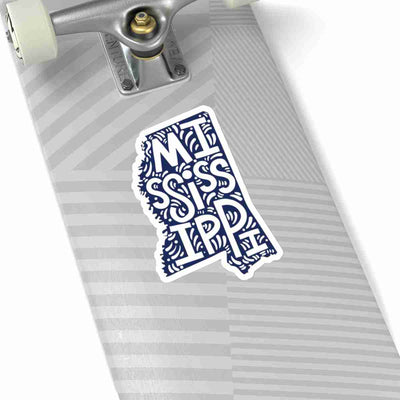 Mississippi State Shape Sticker Decal - Dark Blue