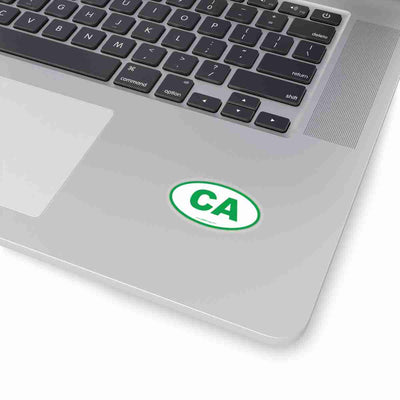 California CA Euro Oval Sticker GREEN