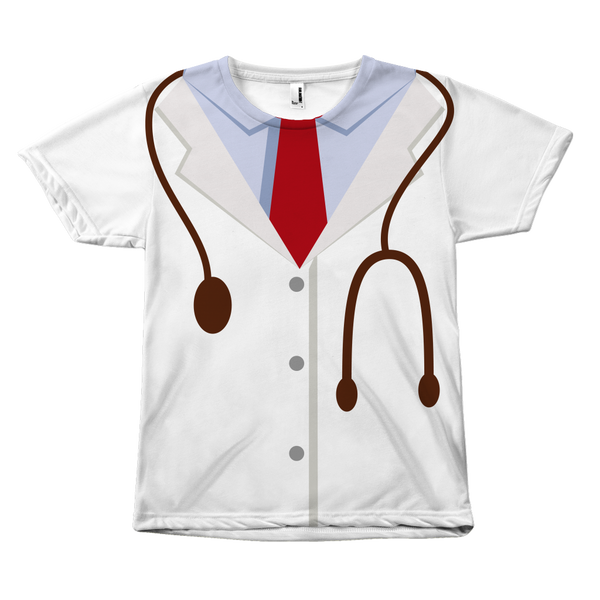 Doctor Costume All Halloween Over Tshirt