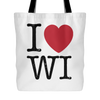 I love Wisconsin Tote Bag