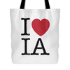 I Love Iowa Tote Bag