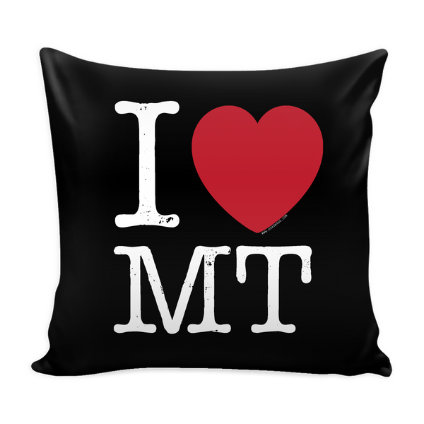 I Love Montana Pillow Case