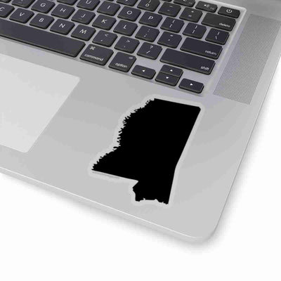 Mississippi State Shape Sticker BLACK