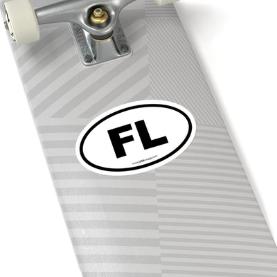 Florida FL Euro Oval Sticker BLACK