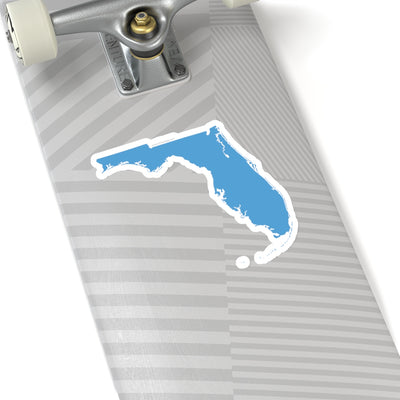 Florida State Shape Sticker LIGHT BLUE